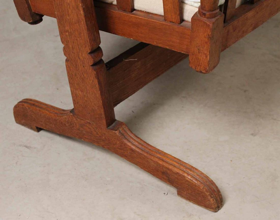 Victorian Oak Cradle on Stand - 5