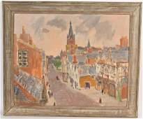 Oil on Canvas, Paul Parker, City Lane