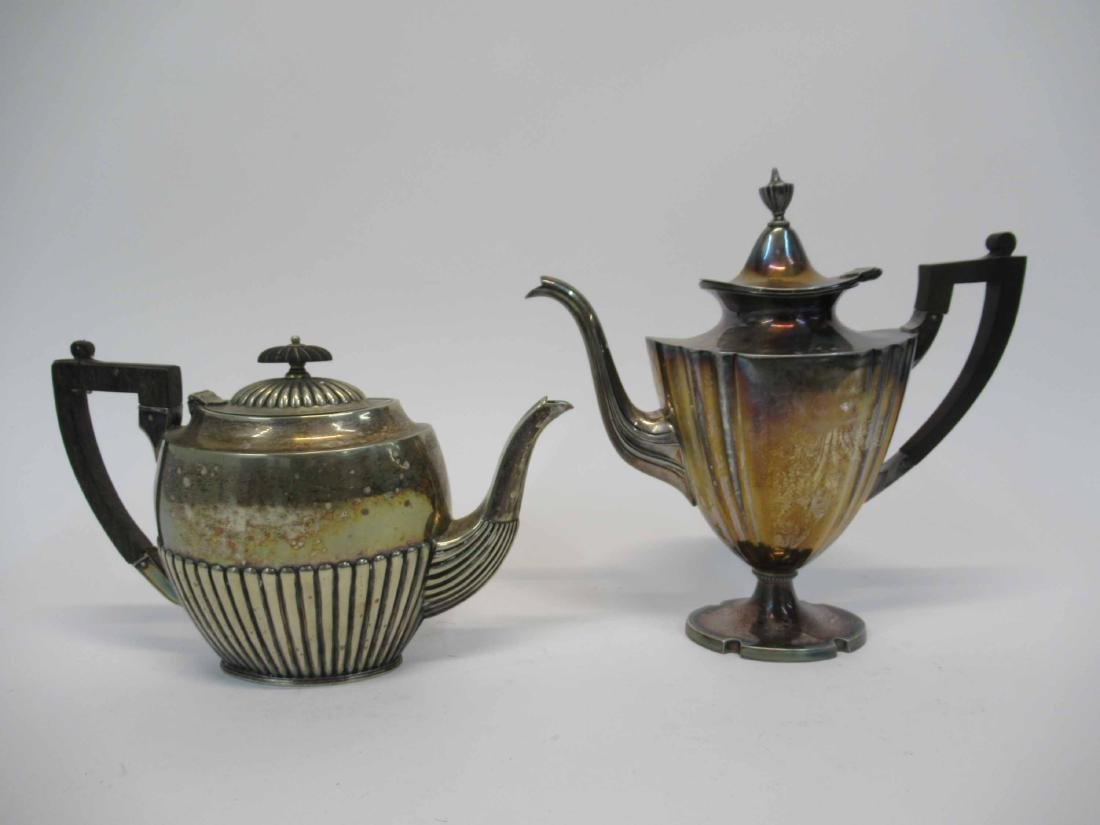 Two Silver Plated Coffee Pitchers