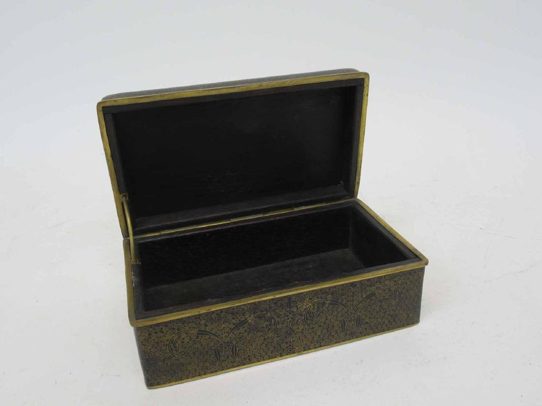 Chinese Blue Cloisonne Box