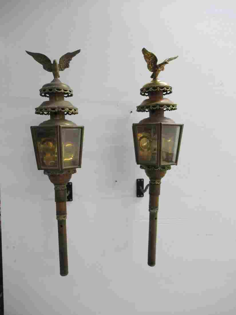 Pair of English Carriage Lanterns