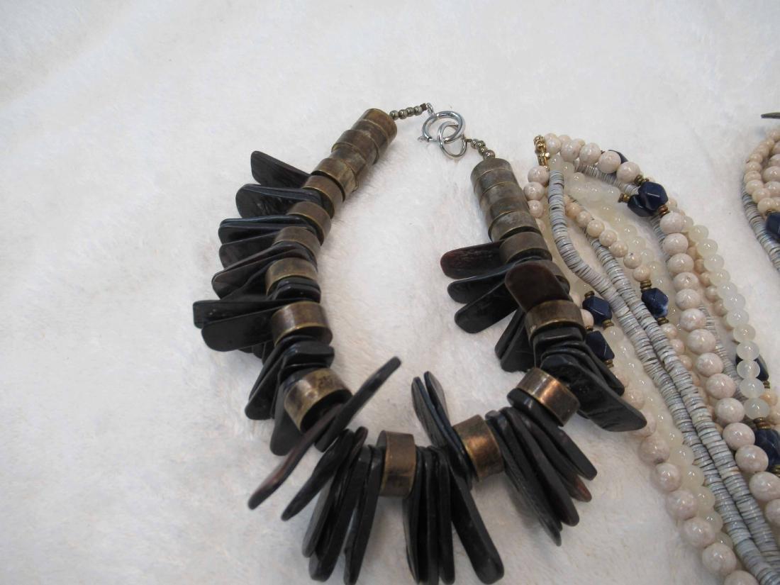 Three Studio Beaded Necklaces - 4