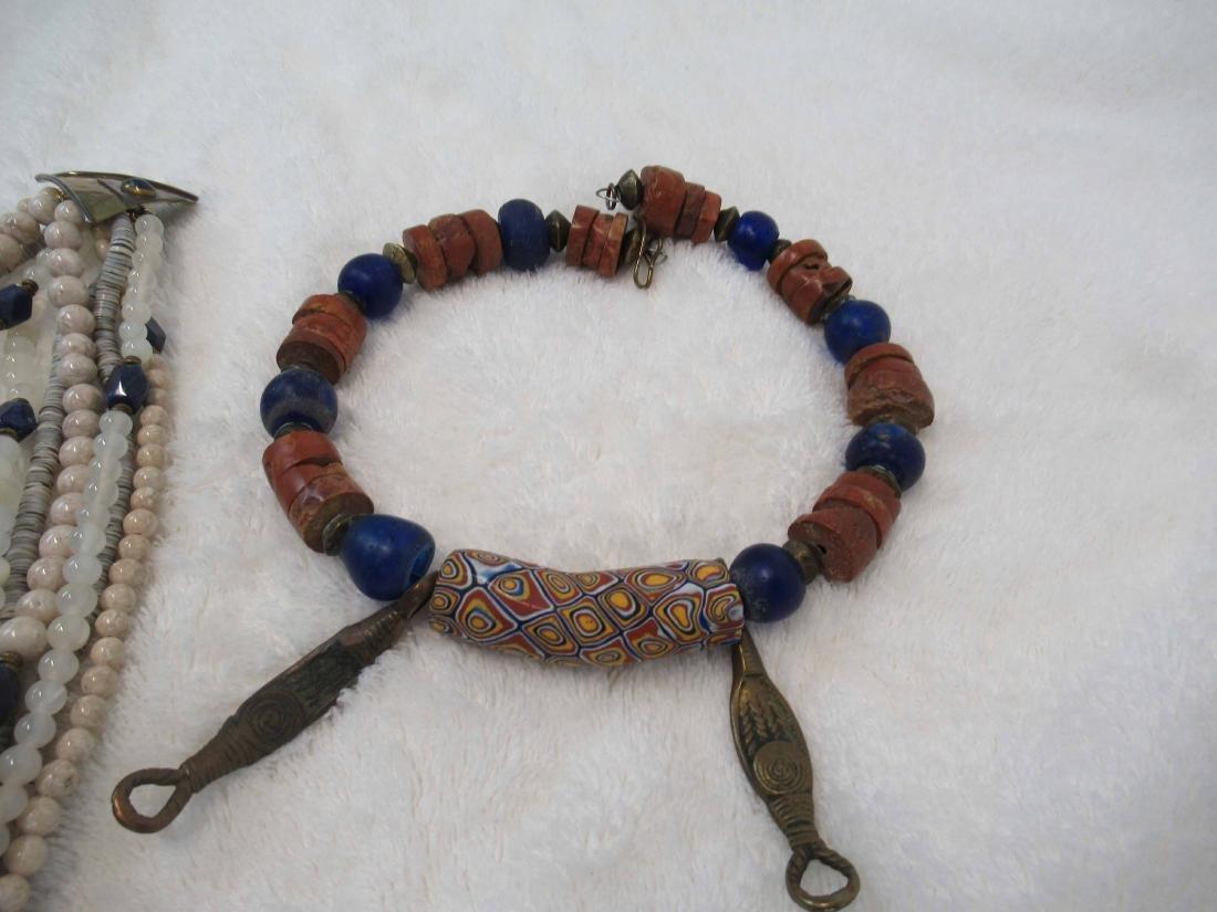 Three Studio Beaded Necklaces - 5