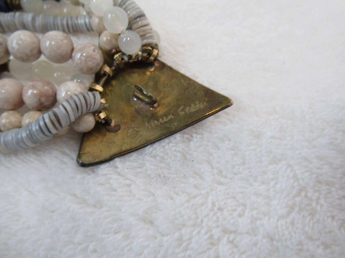 Three Studio Beaded Necklaces - 6