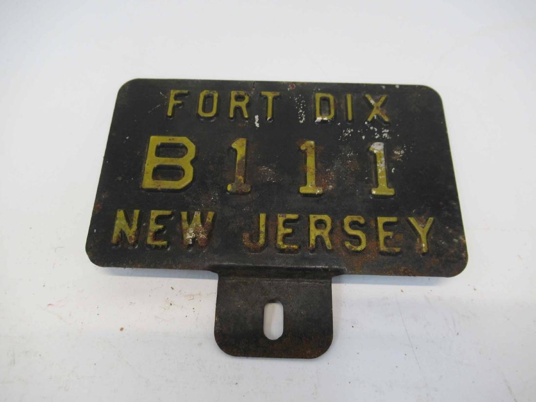 Vintage Fort Dix NJ License Plate