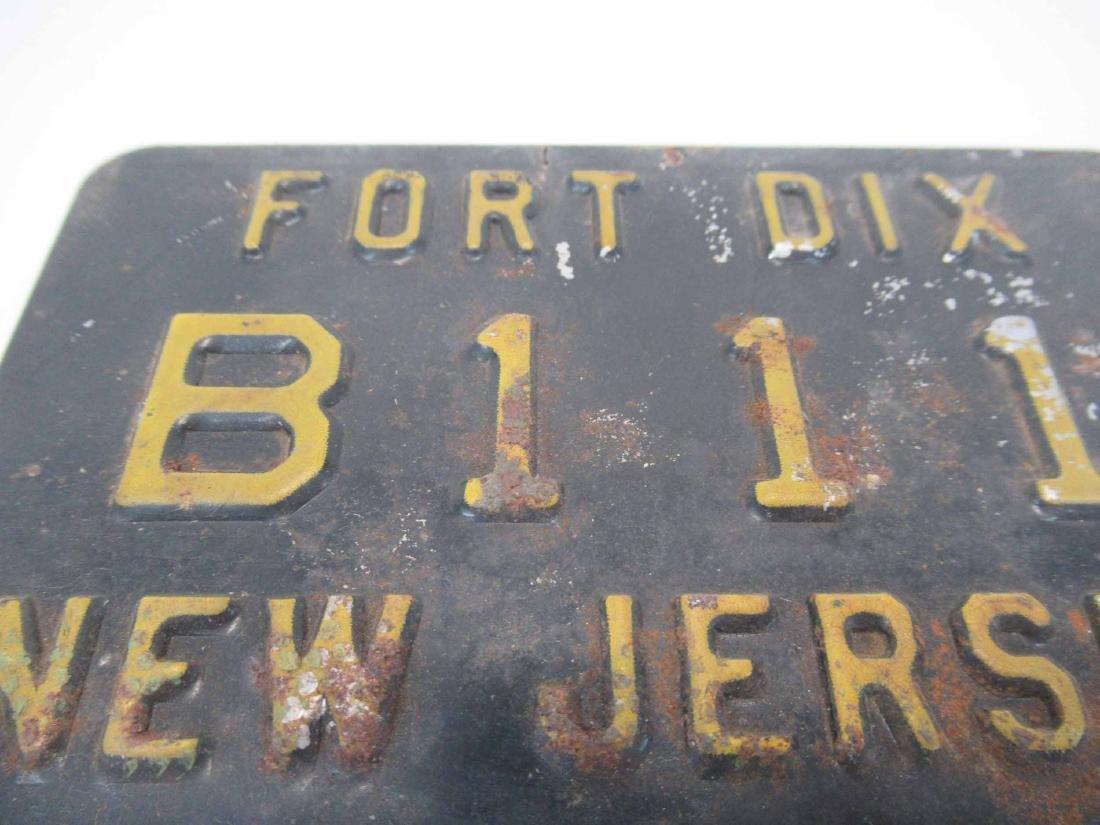 Vintage Fort Dix NJ License Plate - 2
