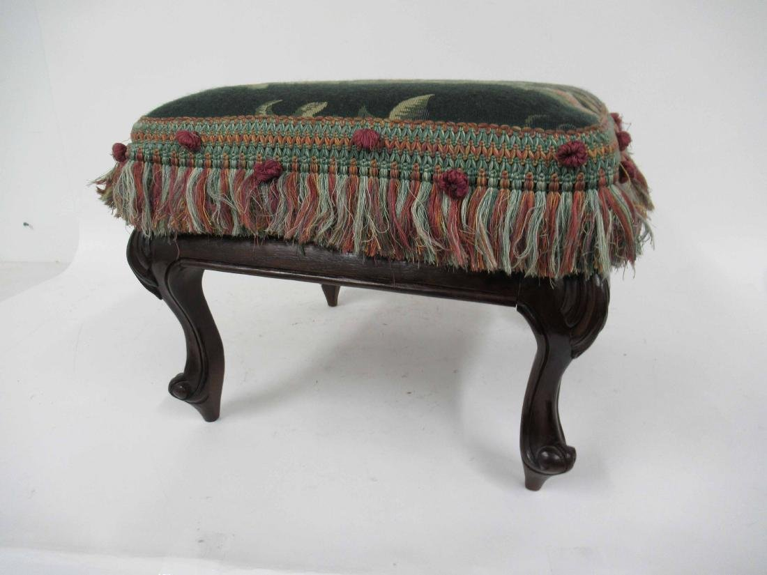 Victorian Style Upholstered Foot Stool