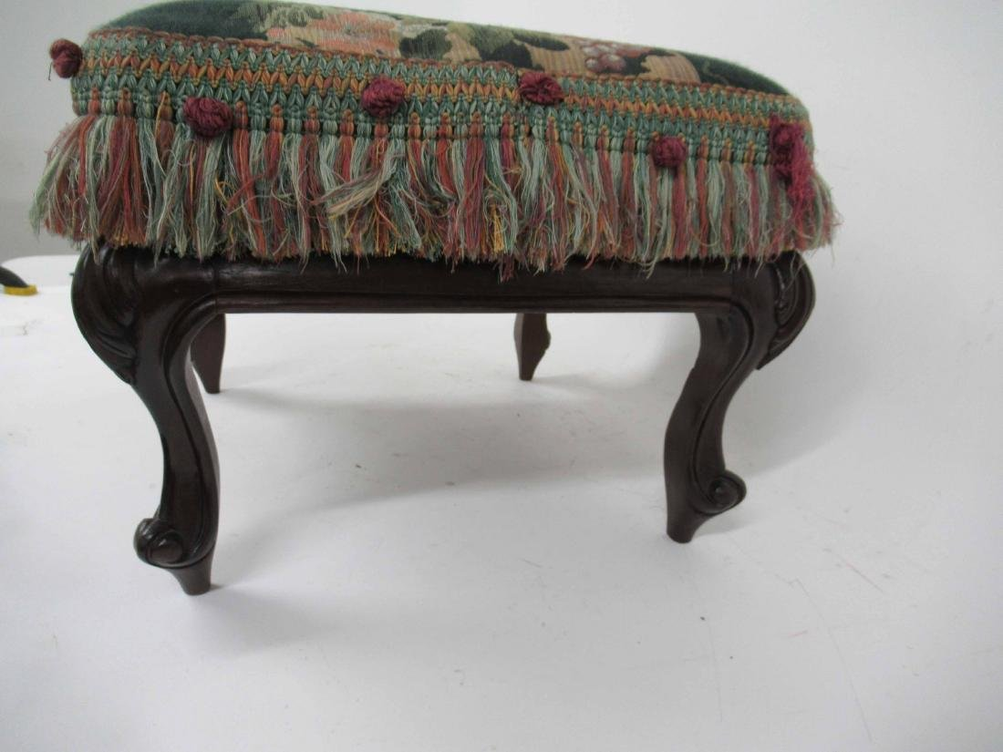 Victorian Style Upholstered Foot Stool - 3