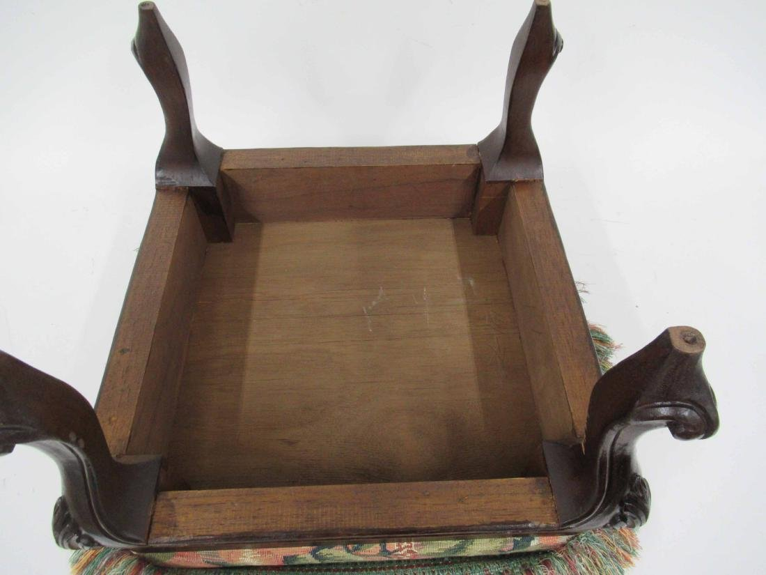Victorian Style Upholstered Foot Stool - 4