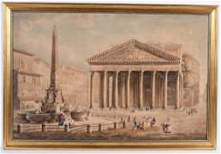 Watercolor, The Pantheon, Abraham Ducros
