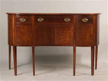 Federal Serpentine Front Mahogany Sideboard