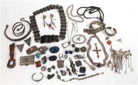 Group of Silvered Metal & Sterling Silver Items