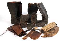 Group of Vintage Leather Articles