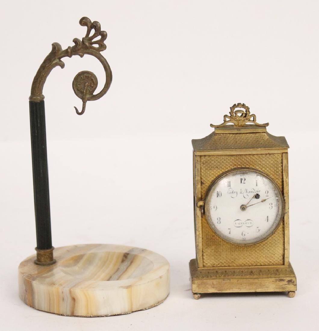 Gilt Bronze Miniature Carriage Clock