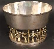 German Parcel-Gilt Silver Centerpiece Bowl