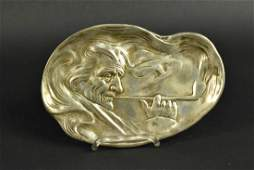 Unger Brothers Art Nouveau Sterling Silver Tray