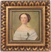 Oil on Board Portrait of a Girl Regina Von Schick