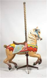 Marcus Charles Illions Carved Carousel Horse