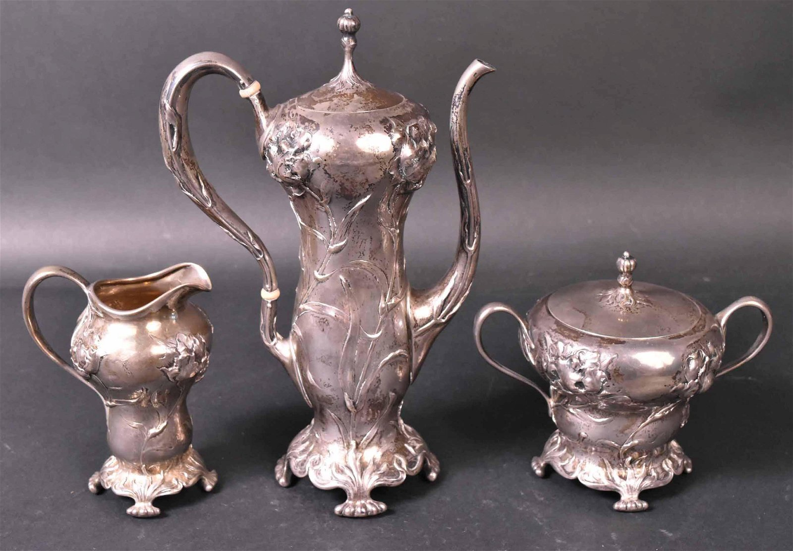 American Art Nouveau Sterling Coffee Set
