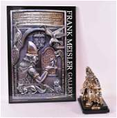 Mixed Metal Sculpture King David Frank Meisler