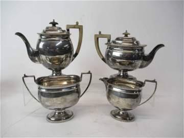 Four Piece English Silver Tea & Coffee Service
