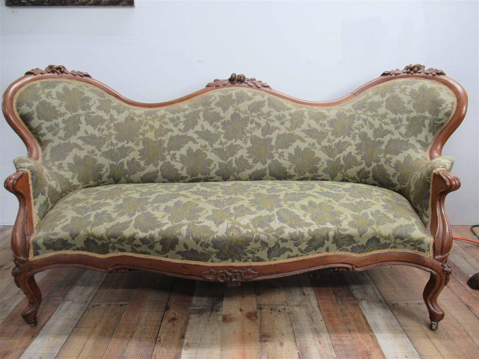 Beautiful Carved Victorian Sofa
