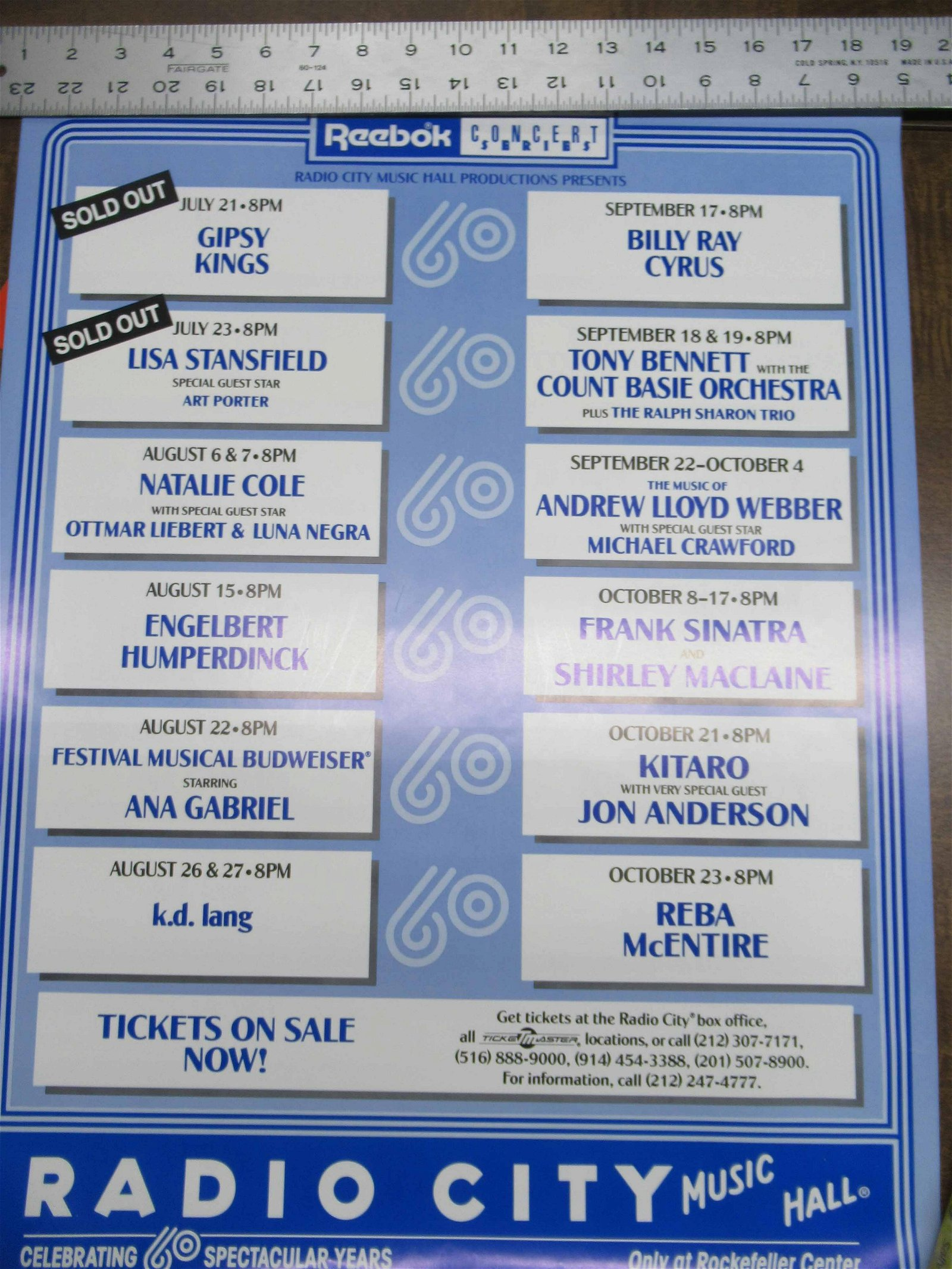 Group of Radio City Music Hall Concert Posters.