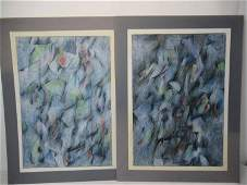 Two Abstract Pastel on Paper