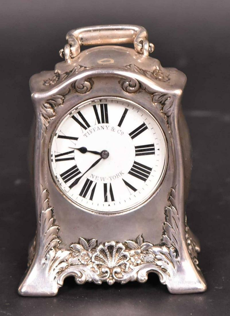 Tiffany & Co. Sterling Silver Carriage Clock
