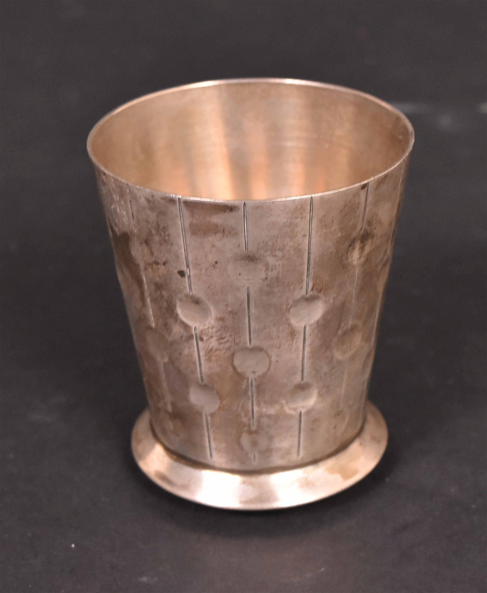 French Silver Tapered Cylindrical Cup