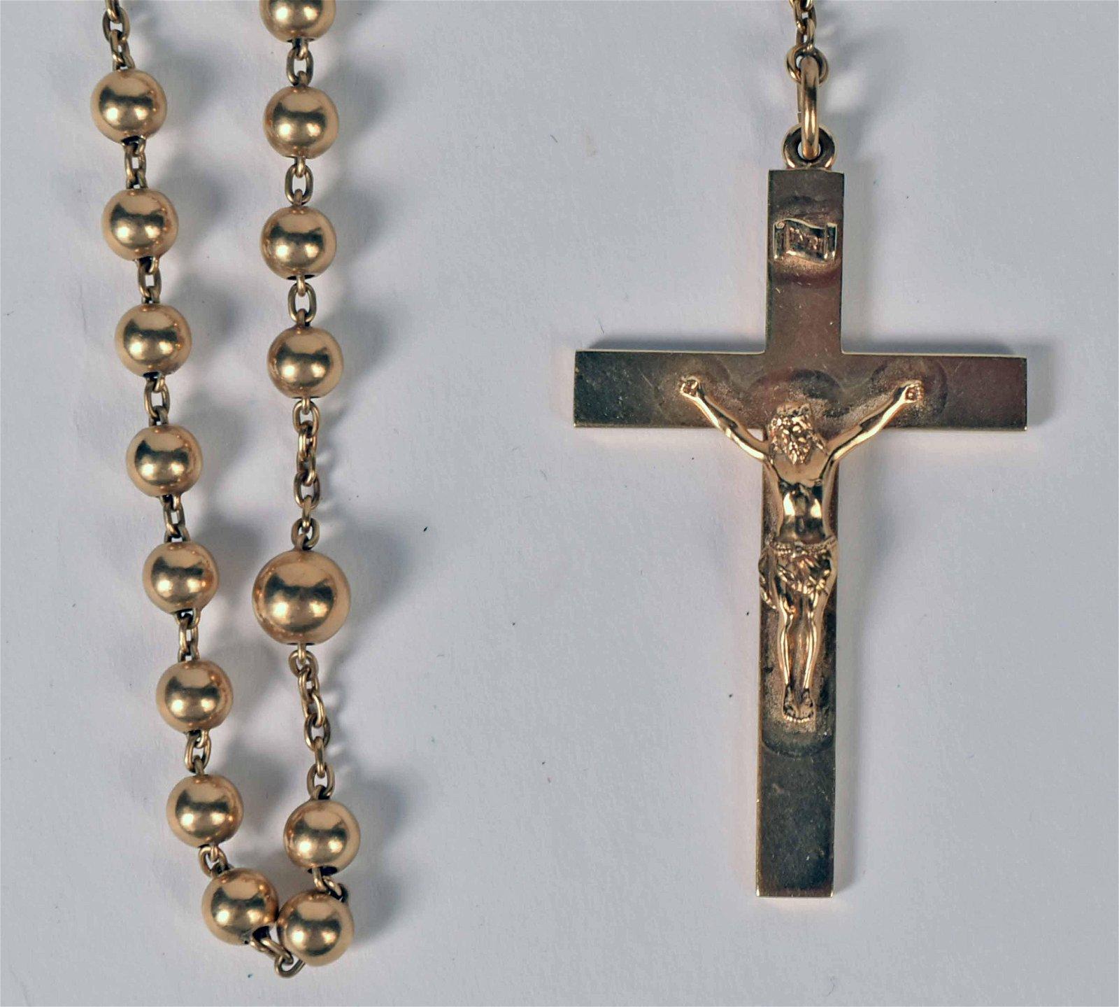 Tiffany & Co 14K Yellow Gold Rosary Beads