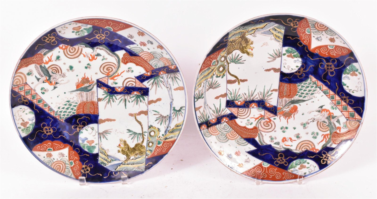 Two Chinese Porcelain Imari Charger Platters