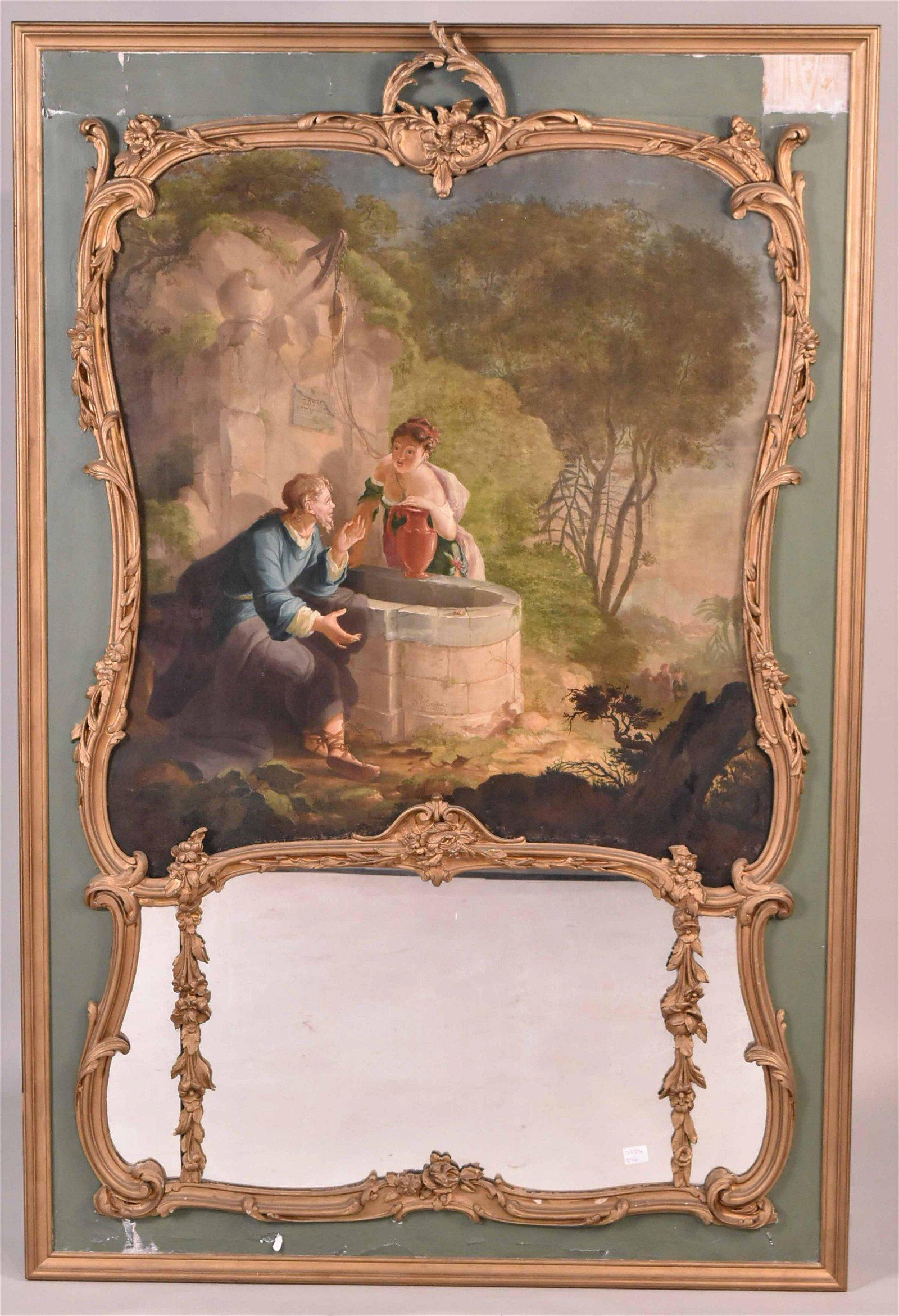 Louis XV Painted and Parcel-Gilt Trumeau
