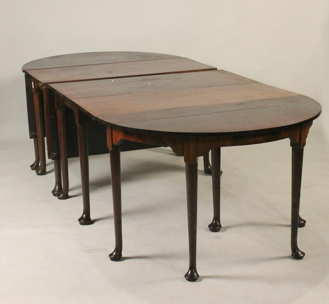 George III Mahogany Four Part Dining Table