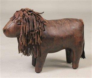 Astounding A Leather Lion Form Footstool Dimitri Omersa Omersa Beatyapartments Chair Design Images Beatyapartmentscom