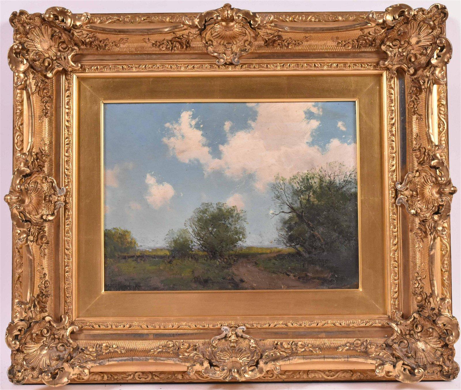 Oil on Board Landscape, Julian Onderdonk