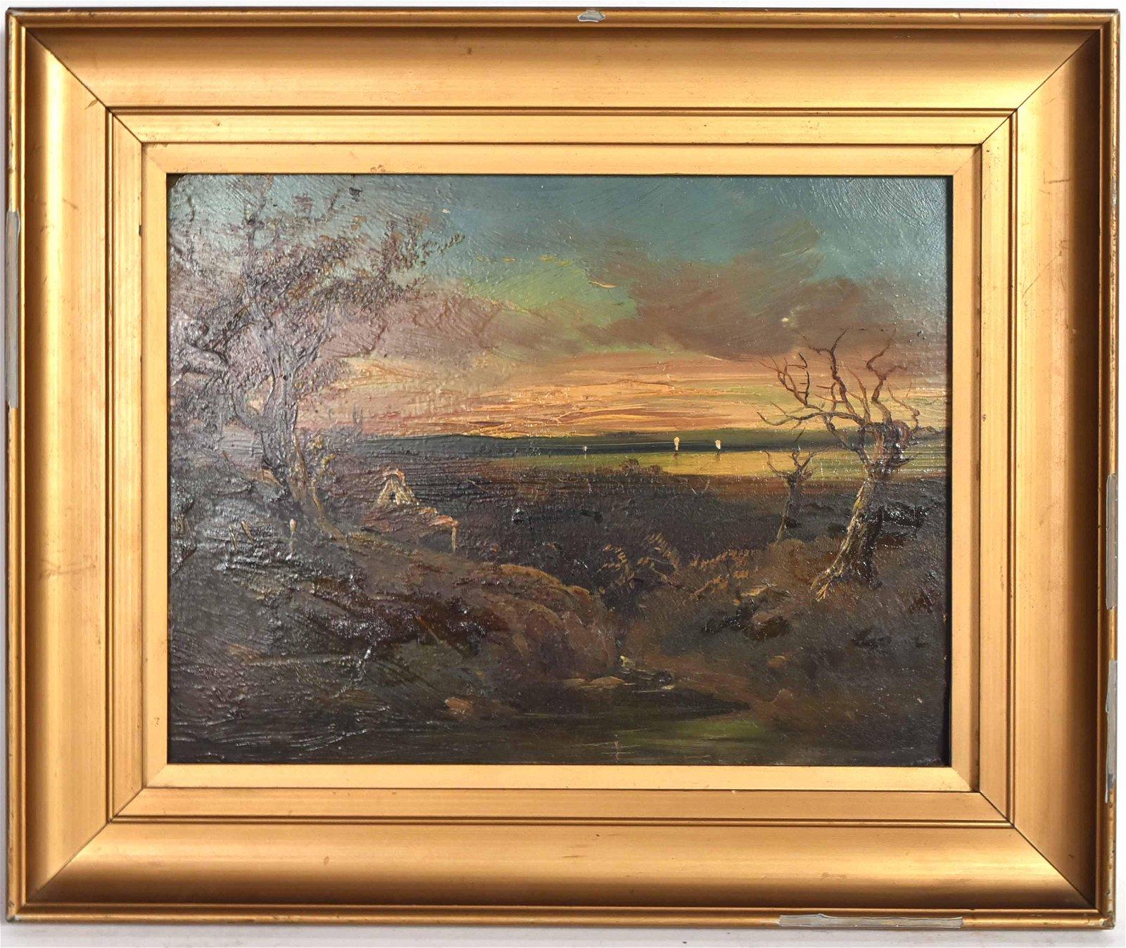 Oil on Board Landscape George Turner