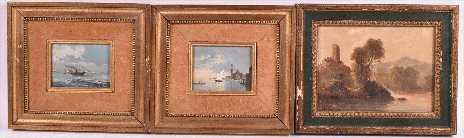 Two Oils on Board, Venetian Scenes