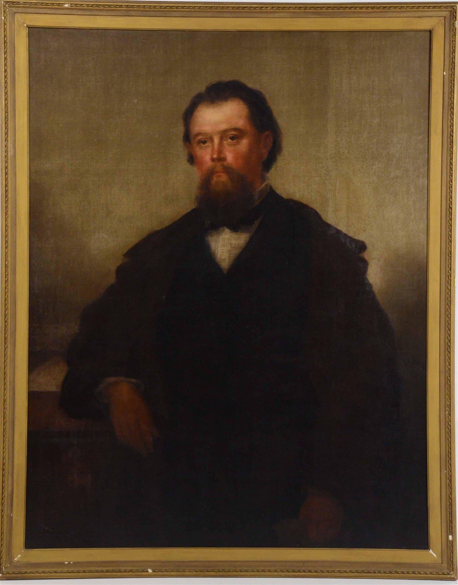 Oil on Canvas, Portrait of a Man, Joseph Ames
