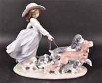 Lladro Puppy Parade Porcelain Figure