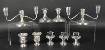 Group of Weighted Sterling Silver Articles