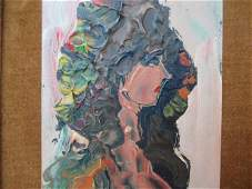 Anthony Triano Oil On Board of Female Bust