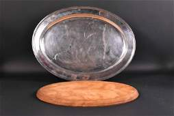 Tiffany & Co. Sterling Silver Large Oval Tray