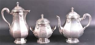 German 800 Silver Three Piece Coffee Set