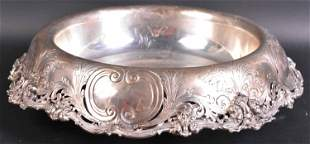 Large Sterling Silver Inverted Centerpiece Bowl