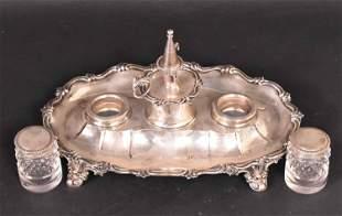 Victorian Silver Inkstand