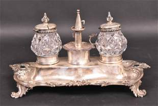 Victorian Silver Ink Stand, John & George Angel