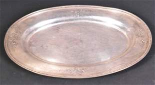 Redlich Sterling Silver Large Oval Tray