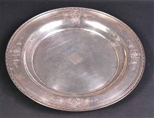 Sterling Silver Large Circular Tray
