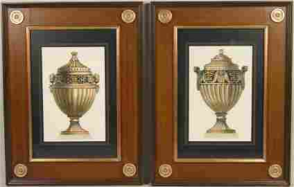 Pair of Lithographs of Neoclassical Urns